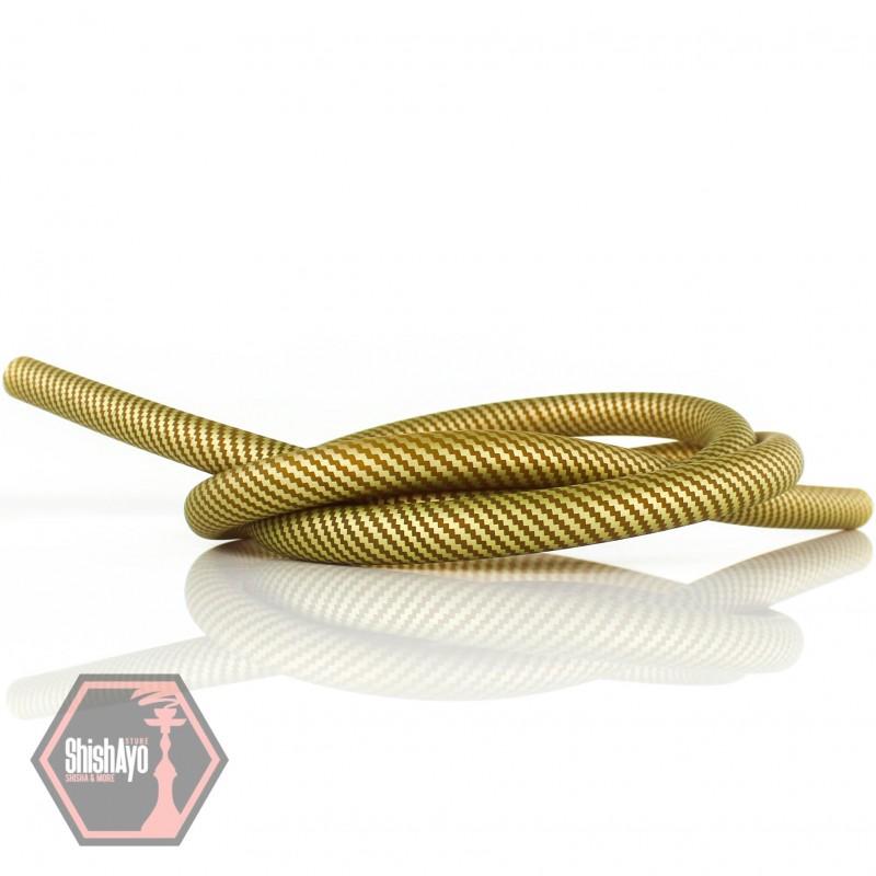 • Silikonschlauch Matt Carbon Gold