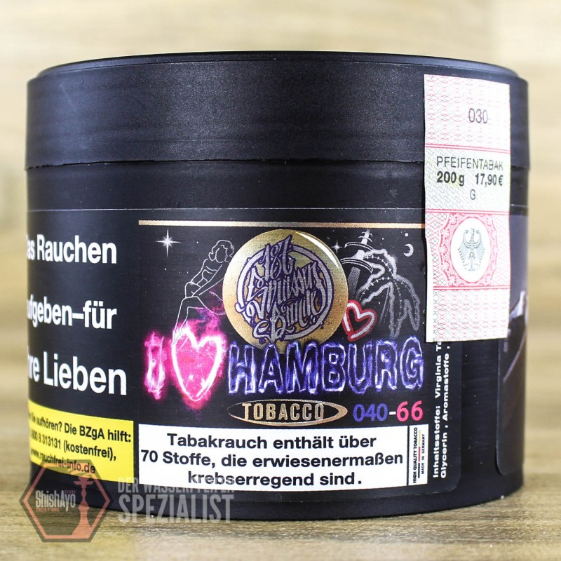 187 Tobacco  • I LOVE HAMBURG 200gr.