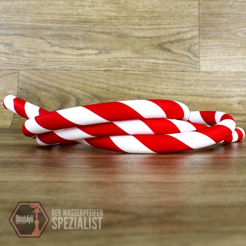 Caesar • Silikonschlauch Stripe Red White