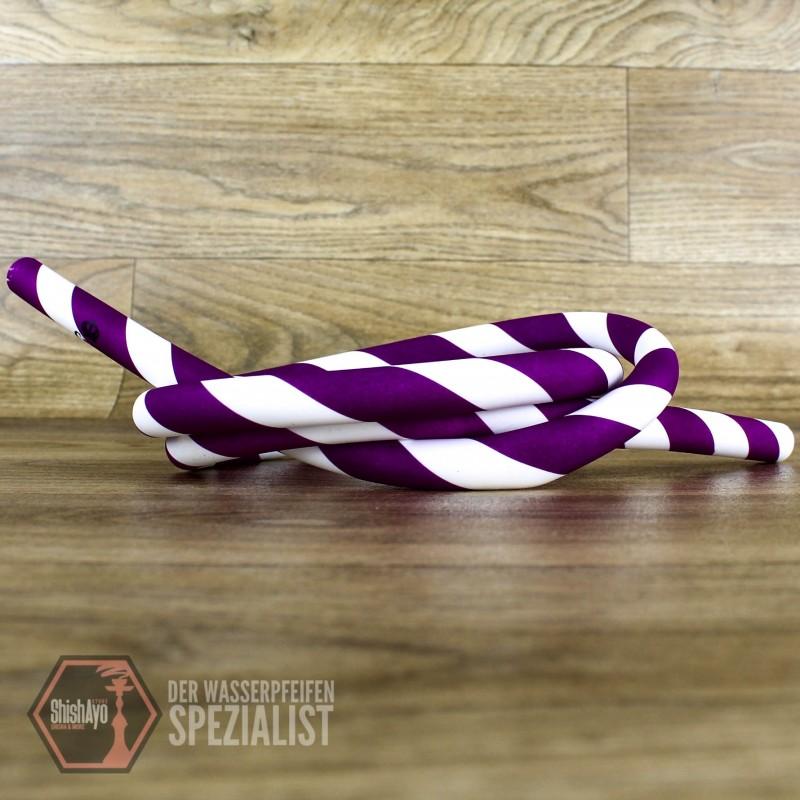 Caesar • Silikonschlauch Stripe Purple White
