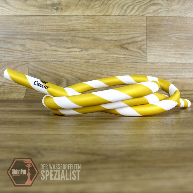 Caesar • Silikonschlauch Matt Striped Gold/White