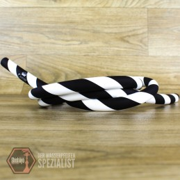 Caesar • Silikonschlauch Matt Striped Black/White
