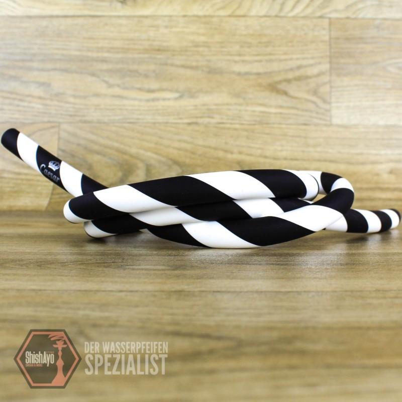 Caesar • Silikonschlauch Matt Striped Black/White
