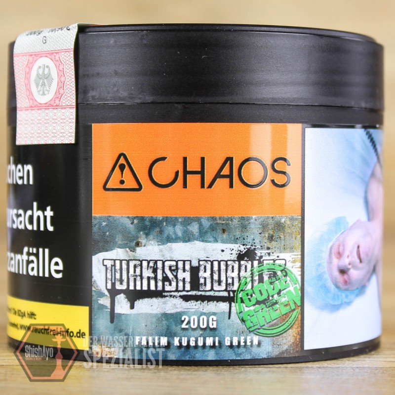 Chaos Tobacco • Turkish Bubbles Code Green 200 gr.