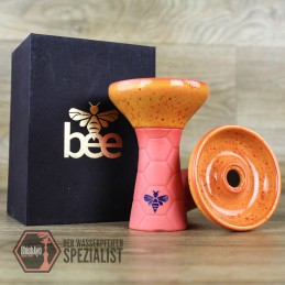 Bee Hookah • Phunnel Pink- Half Glazed Orange Red