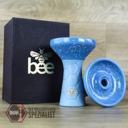 Bee Hookah • Phunnel light Blue- Half Glazed Light Blue White